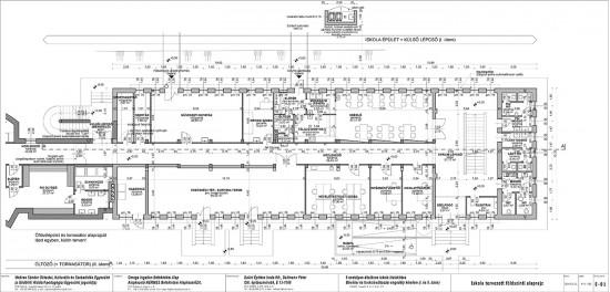 E-01 Iskola tervezett földszint