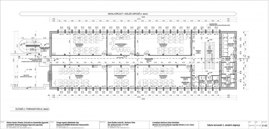 E-02 Iskola tervezett 1. emelet