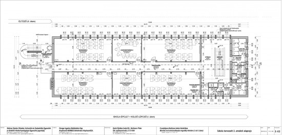 E-03 Iskola tervezett 2. emelet