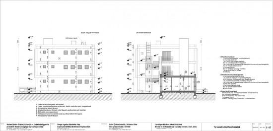 E-07 Tervezett oldalhomlokzatok