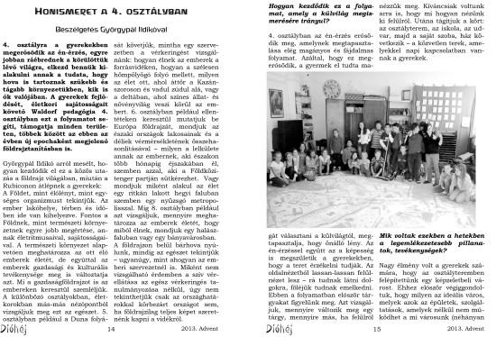 Dióhéj 2013 Advent 4. osztály Honismeret_1-2