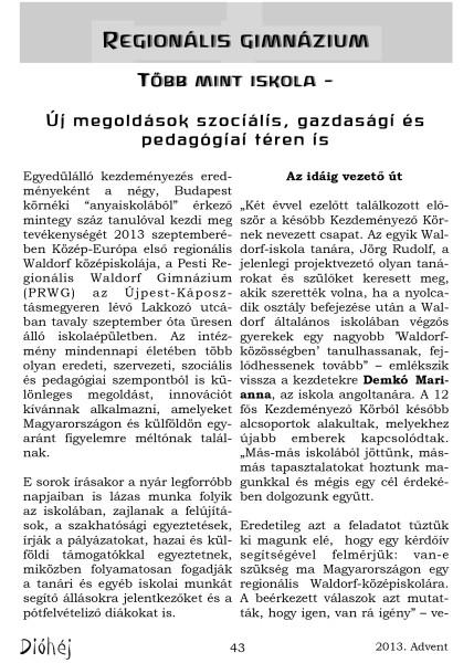Dióhéj 2013 Advent Regionális Gimnázium_1