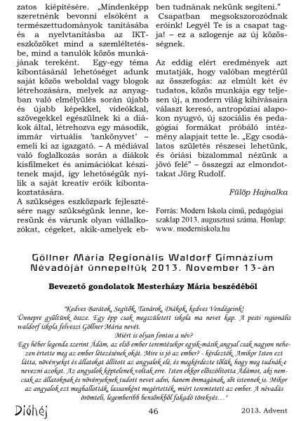 Dióhéj 2013 Advent Regionális Gimnázium_4
