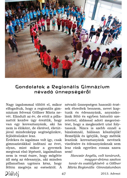 Dióhéj 2013 Advent Regionális Gimnázium_5