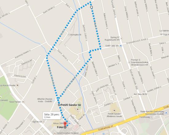 16.05.29. Gyermeknapi futás térkép