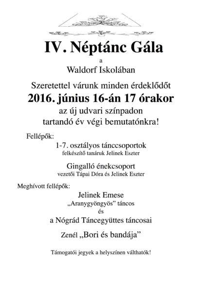 IV. Néptánc gála plakát